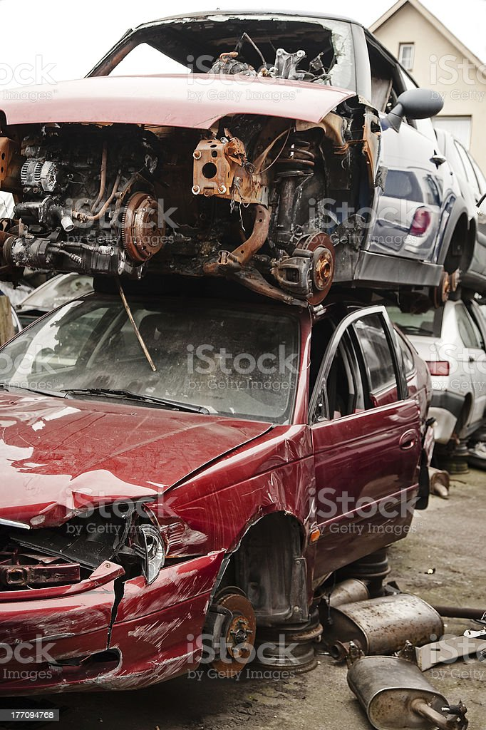 Scrapped vehicles royalty-free stock photo