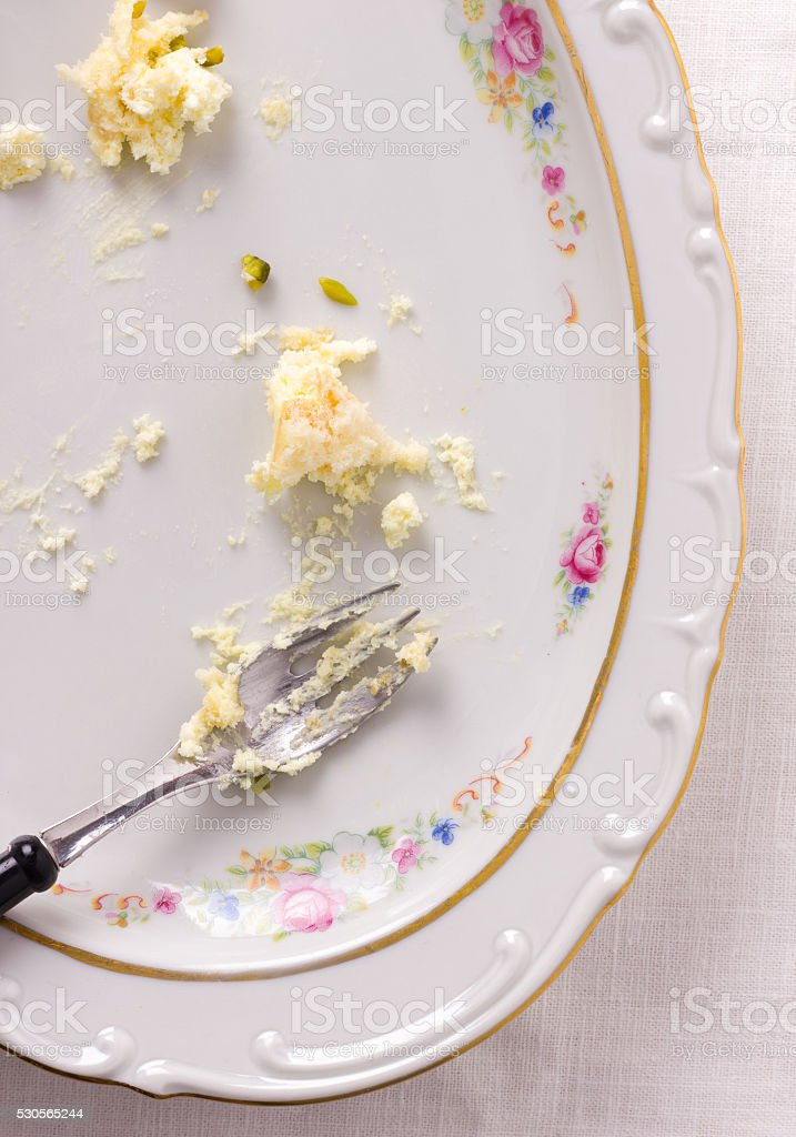 Scraps of food - leftovers stock photo