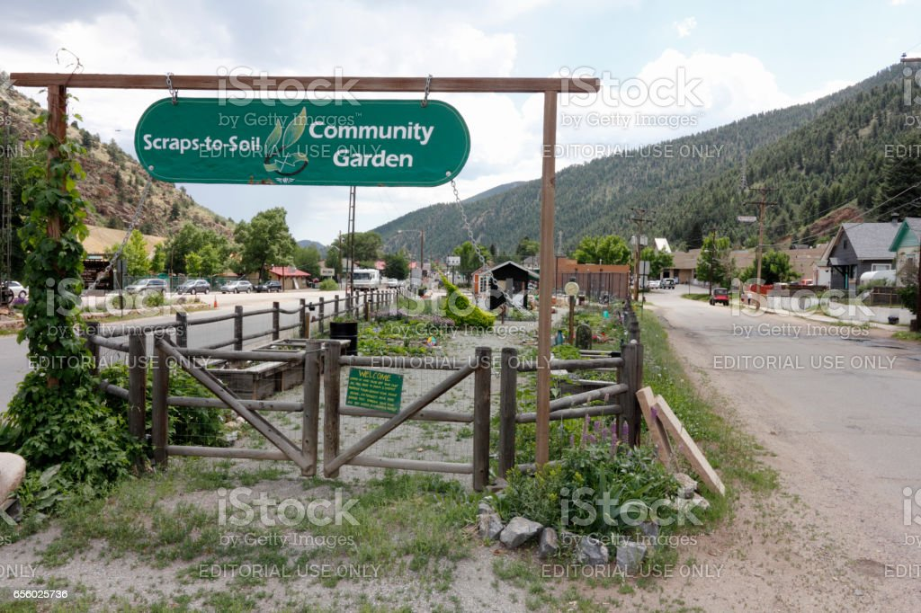 Scraps-to-Soil Community Garden stock photo