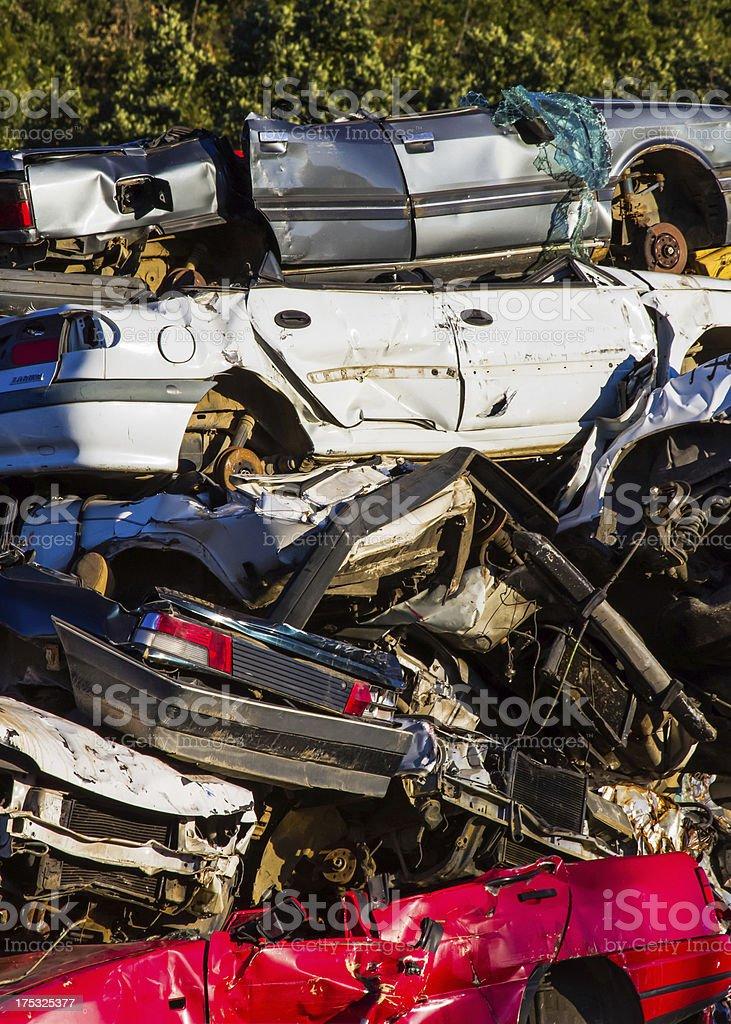 scrapyard - cementerio de coches royalty-free stock photo