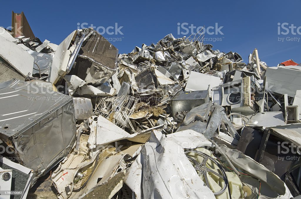 Scrapyard For Old Household Goods royalty-free stock photo