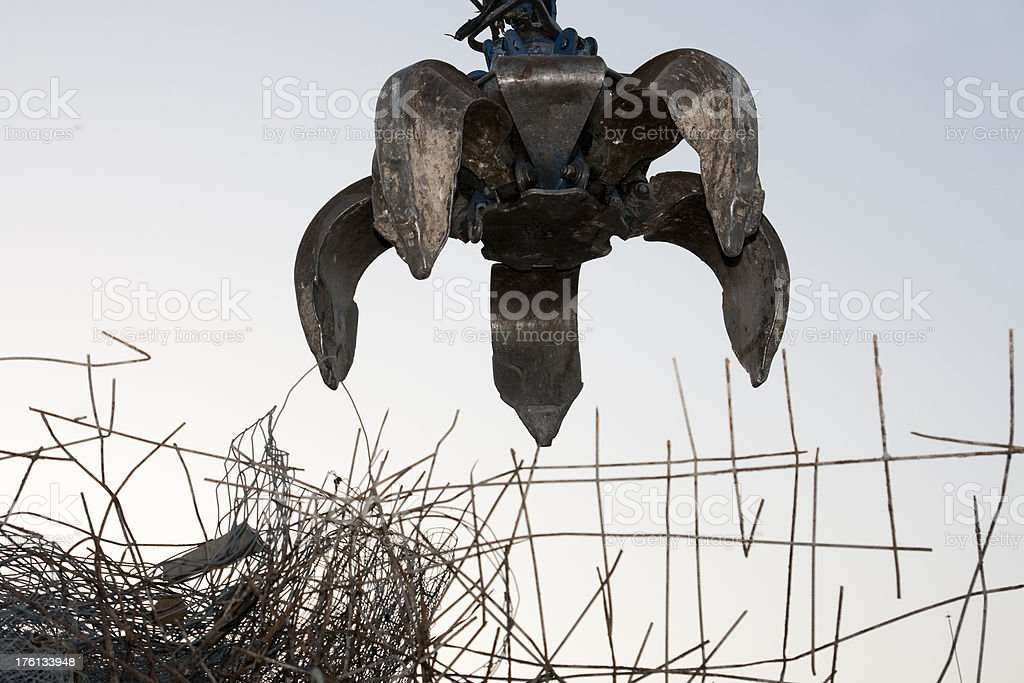 Scrapyard grabber stock photo