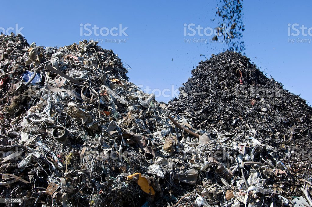Scrapyard Metal Recycling royalty-free stock photo