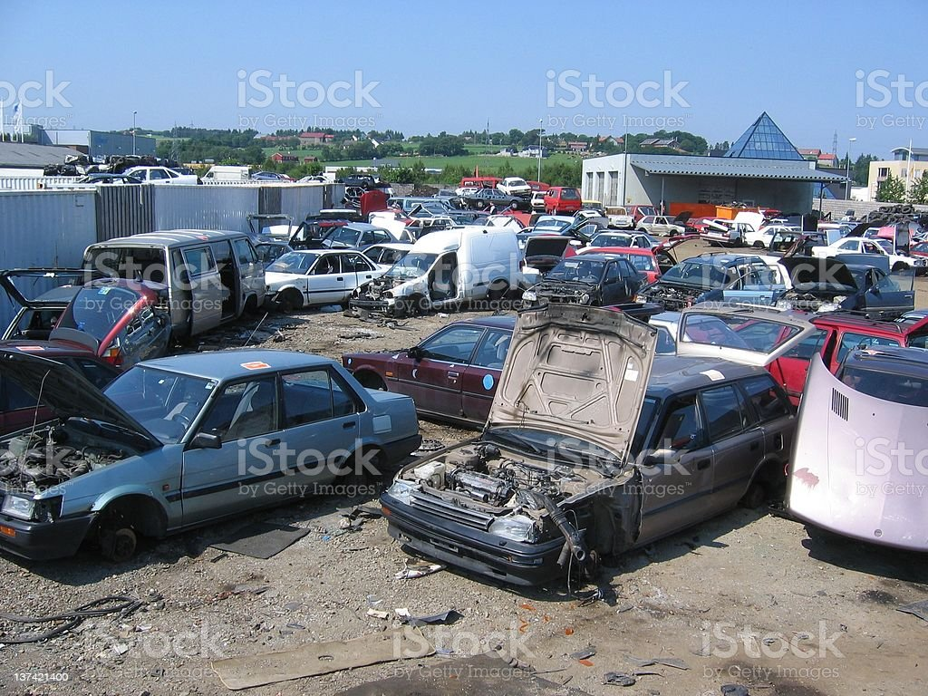 scrapyard royalty-free stock photo
