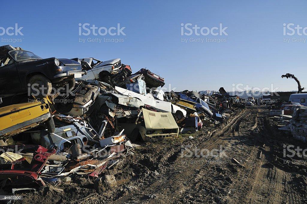 Scrapyard royalty-free stock photo