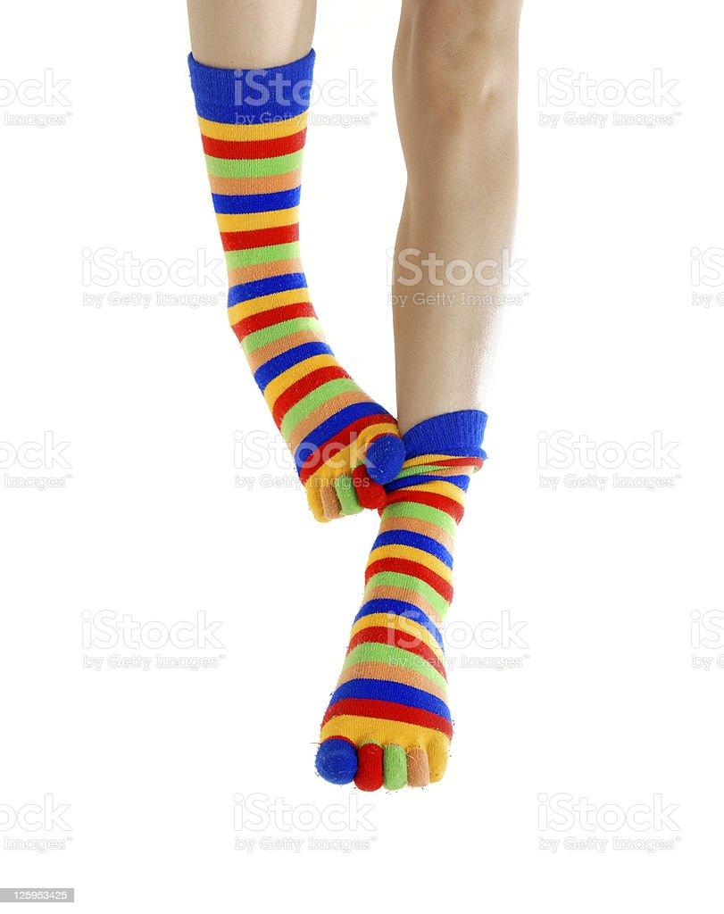 Scratch my legs stock photo