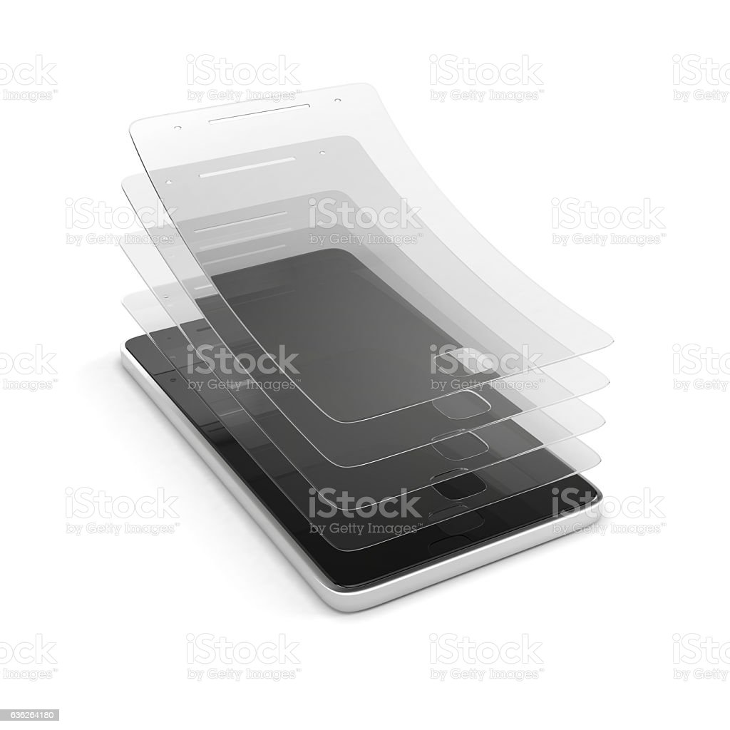 scratch protective film stock photo