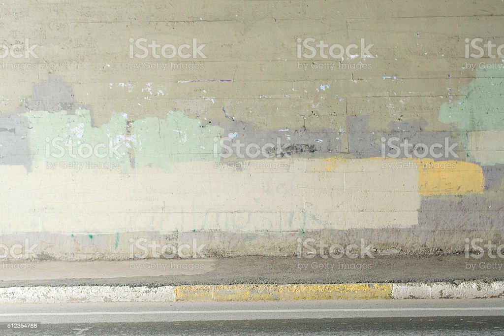 Scratched Advertising stock photo