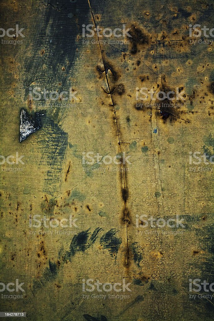 Scratched and rusty metal royalty-free stock photo