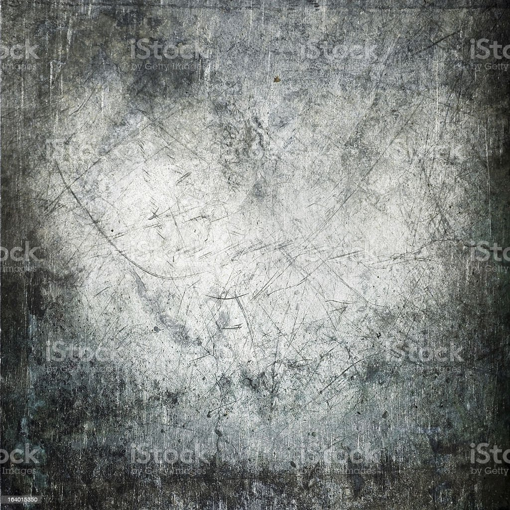 Scratched and stained metal texture stock photo