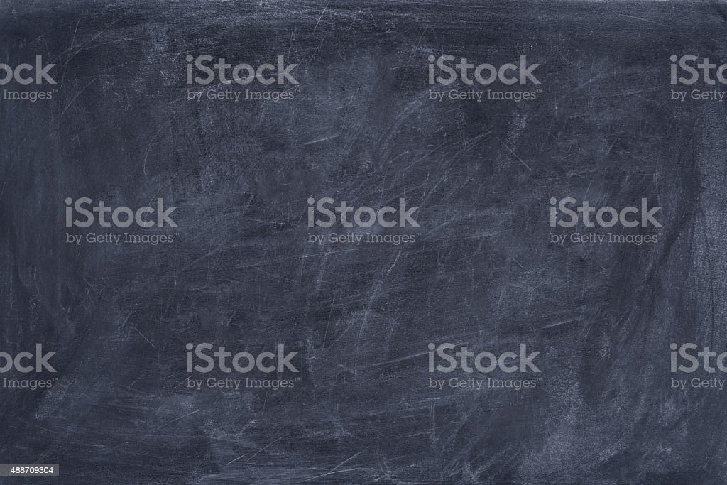 Scratched blackboard copy space. stock photo