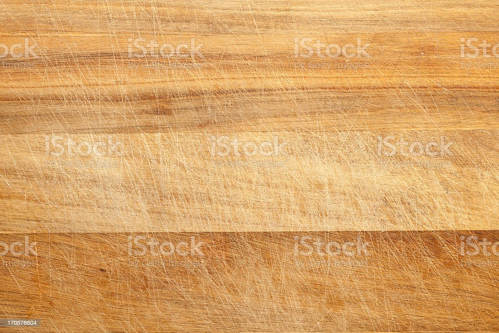 Scratched Breadboard or Cutting Board Background Texture stock photo
