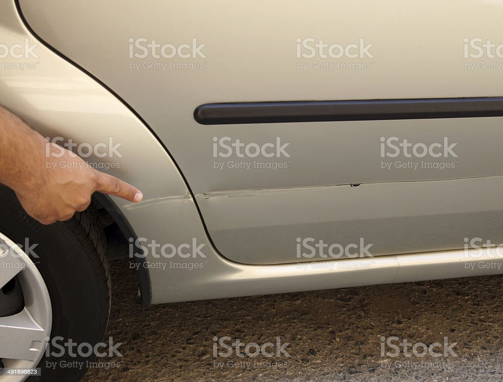 Scratched Car royalty-free stock photo