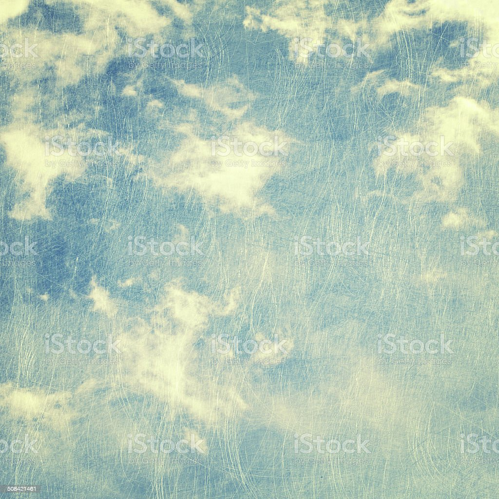 scratched cloud and sky background stock photo