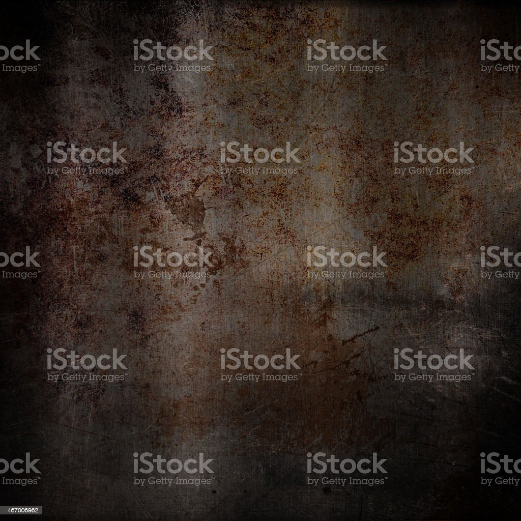Scratched grunge rusty metal background vector art illustration