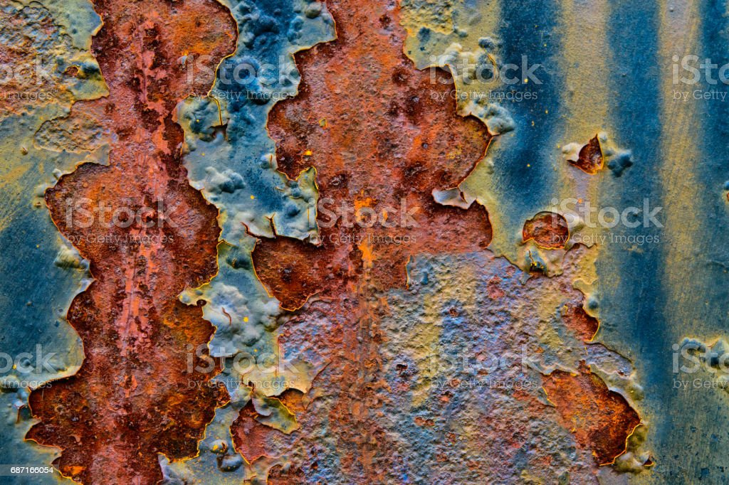 Scratched Metal Background stock photo