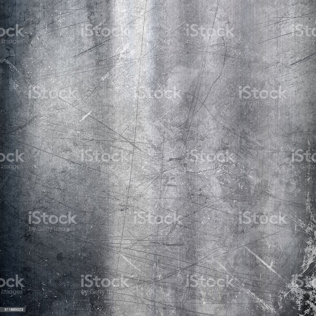 Scratched metallic background stock photo