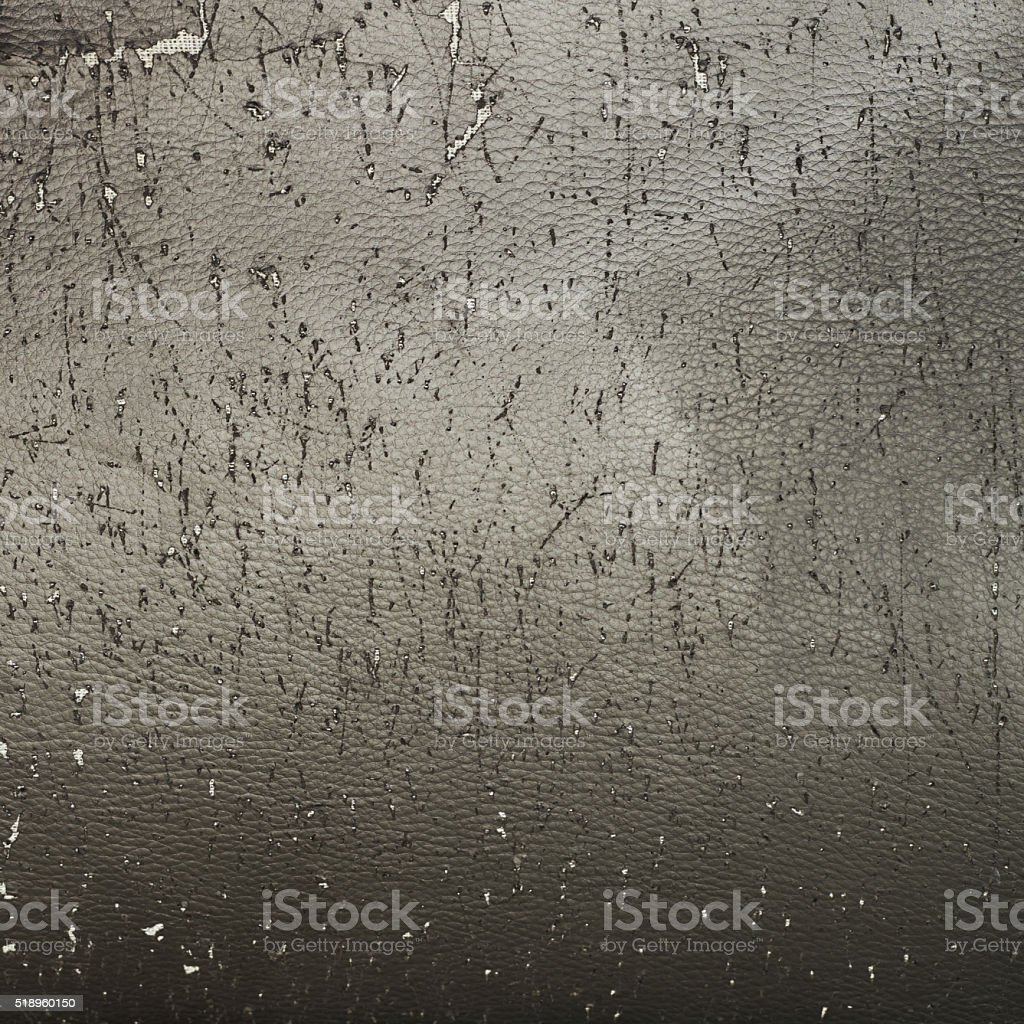 Scratched old leather texture stock photo