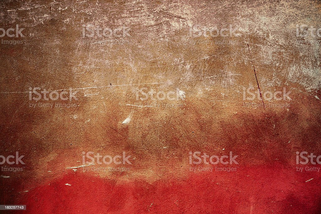 Scratched Red Wall Background Texture Pattern Nobody royalty-free stock photo