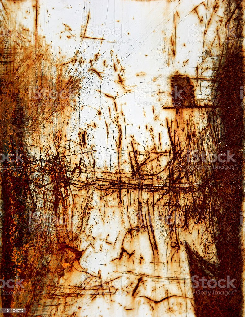 Scratched & Rusted Steel royalty-free stock photo