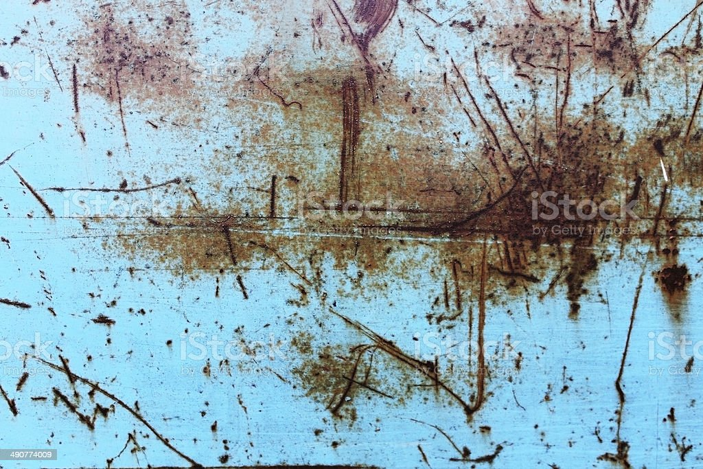 scratched rusty blue surface royalty-free stock photo
