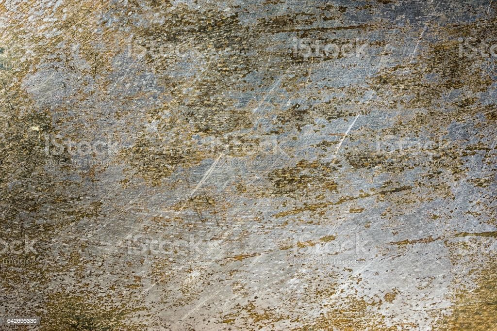Scratched rusty old metal texture. Grunge iron industrial metal background. stock photo