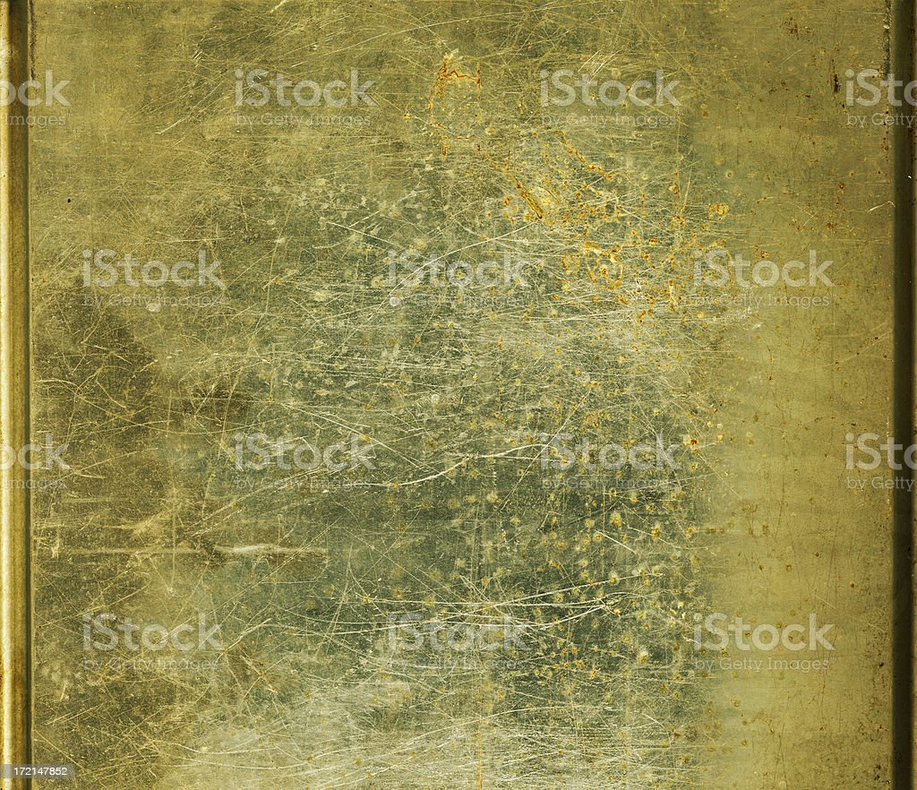 Scratched sheet metal; HIGH RES 9mp royalty-free stock photo
