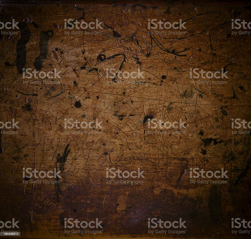 Scratched wooden background royalty-free stock photo