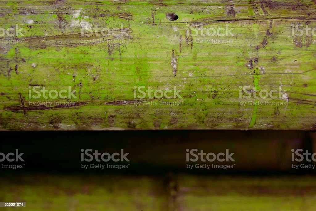 Scratched Yellow Green Bamboos stock photo