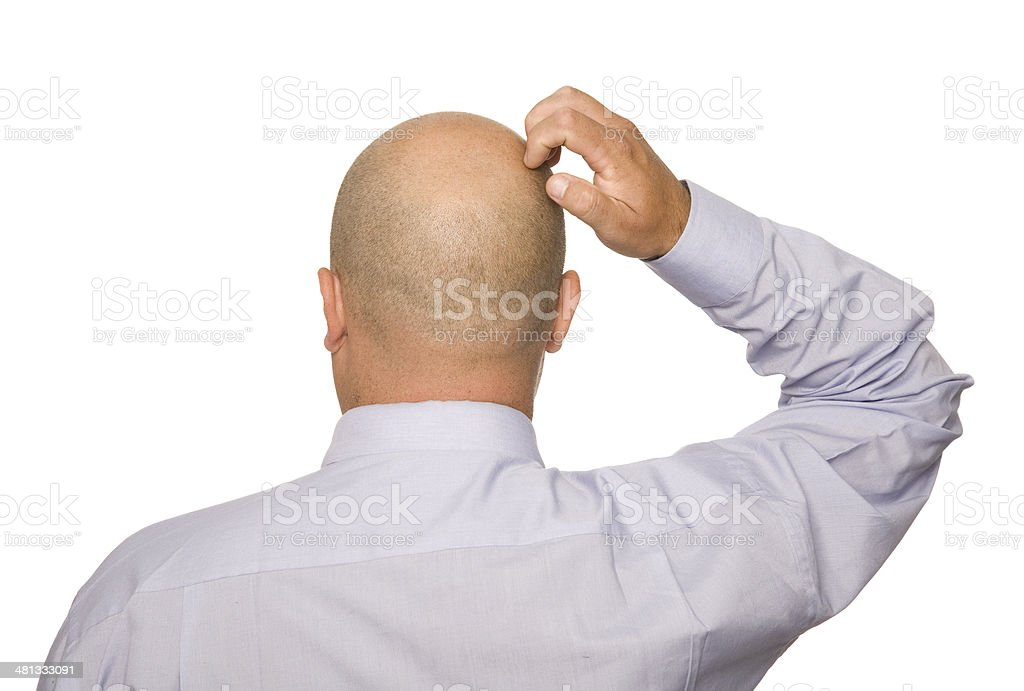 Scratching head royalty-free stock photo
