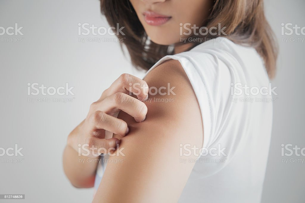 Scratching stock photo