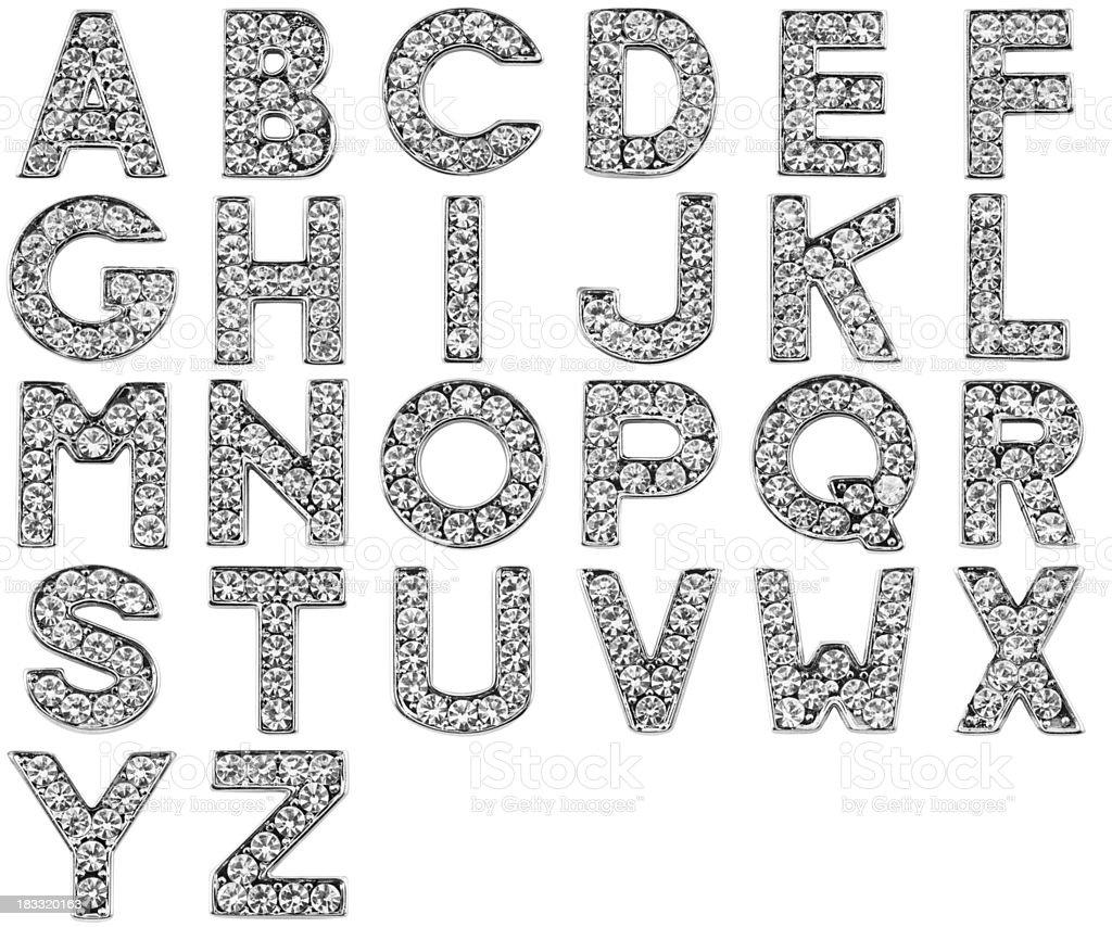 Scratchy glamour alphabet royalty-free stock photo