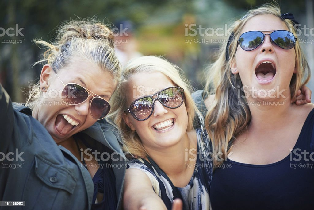 Scream if you love it! royalty-free stock photo