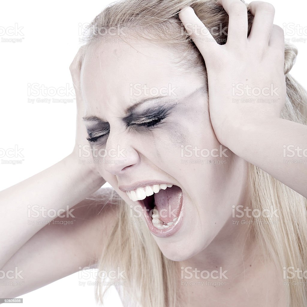 Scream it out loud royalty-free stock photo