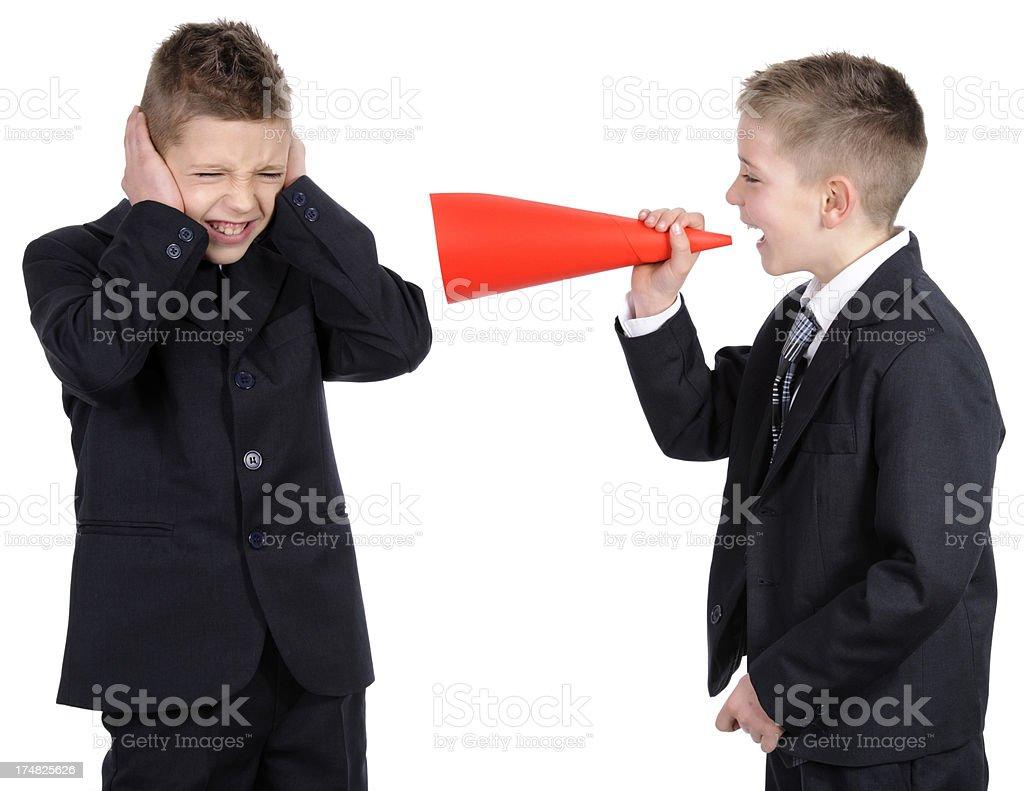 scream megaphone royalty-free stock photo
