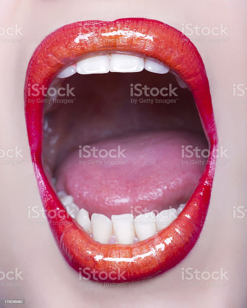 scream stock photo