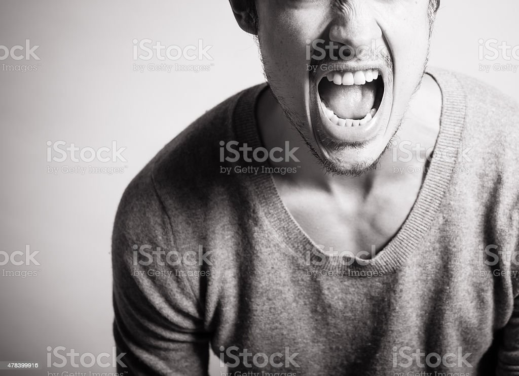 Scream your heart out! stock photo