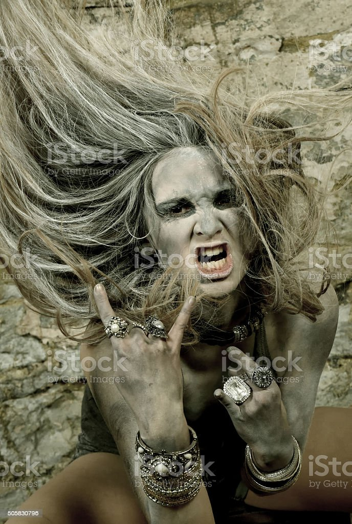 Screamer six stock photo