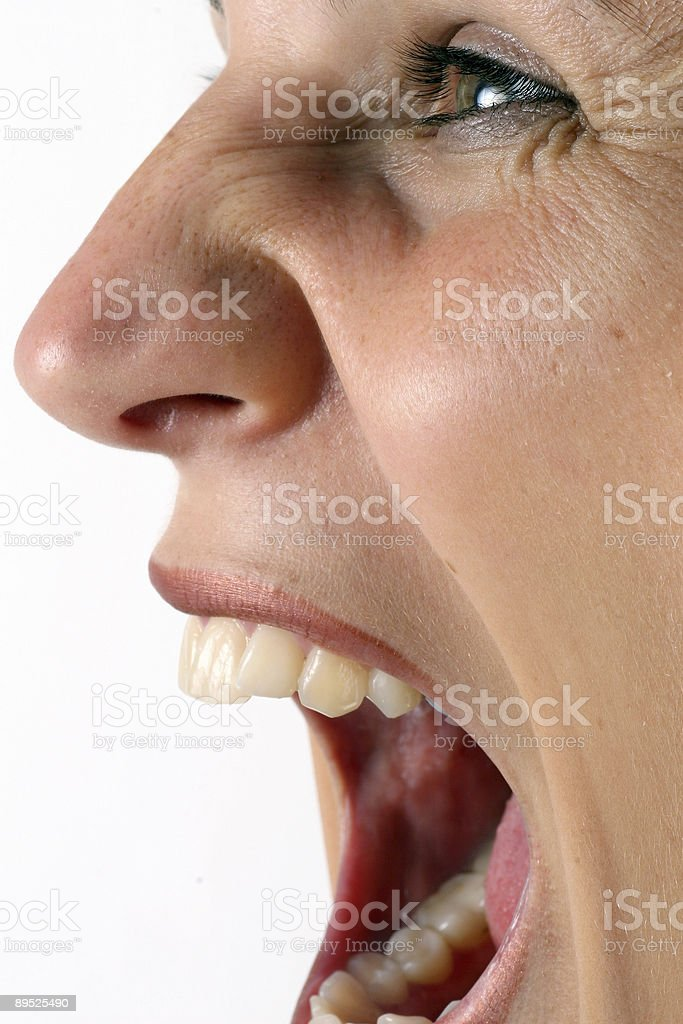 Screaming Angrily royalty-free stock photo