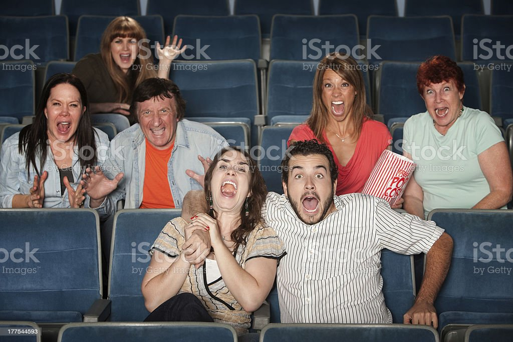 Screaming Audience royalty-free stock photo