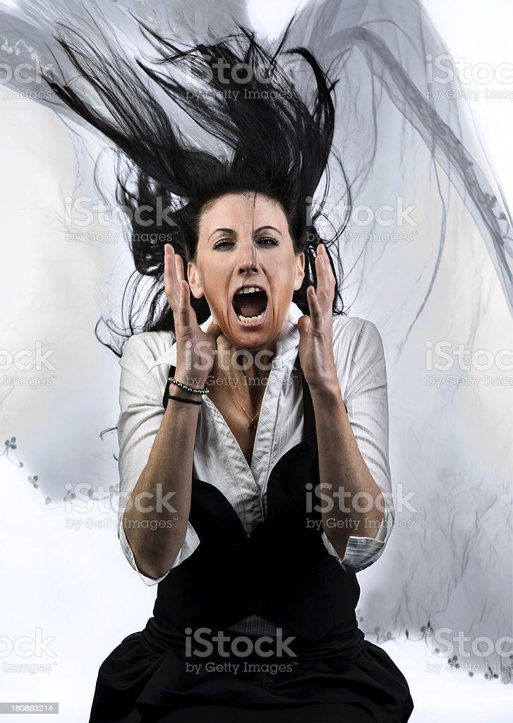 Screaming bride royalty-free stock photo