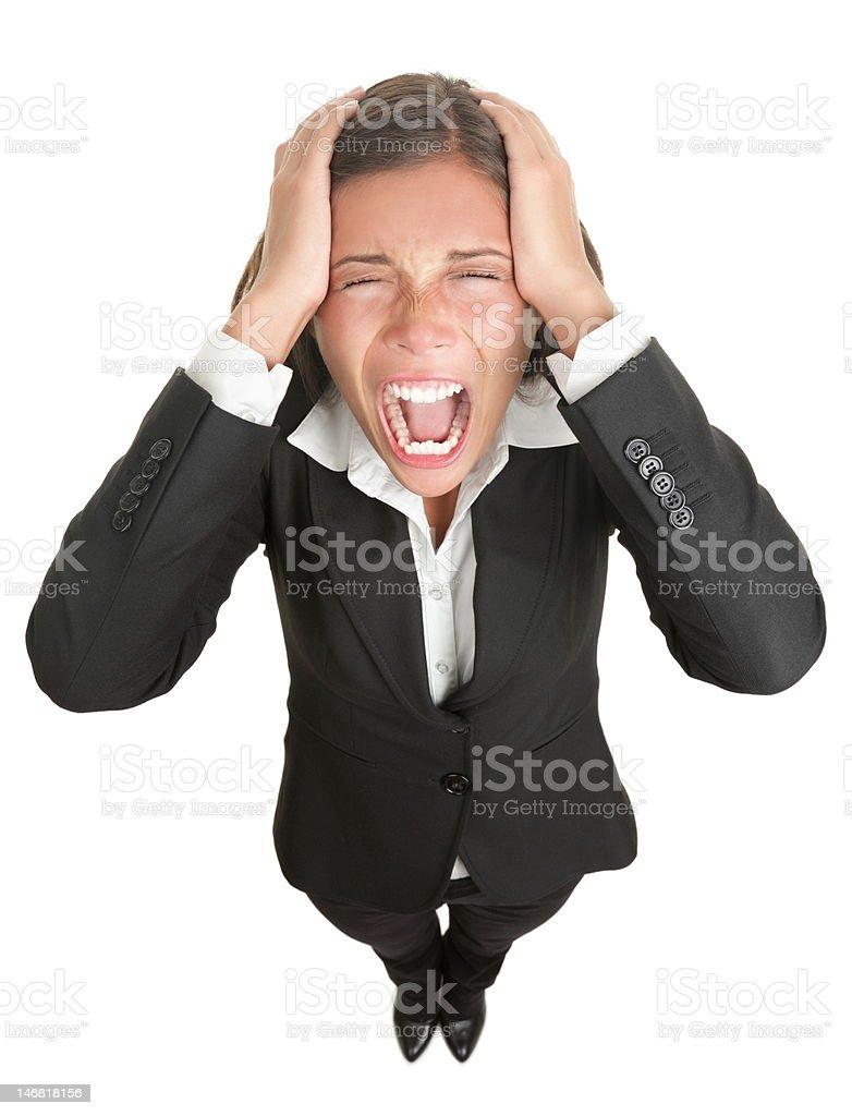 Screaming businesswoman royalty-free stock photo