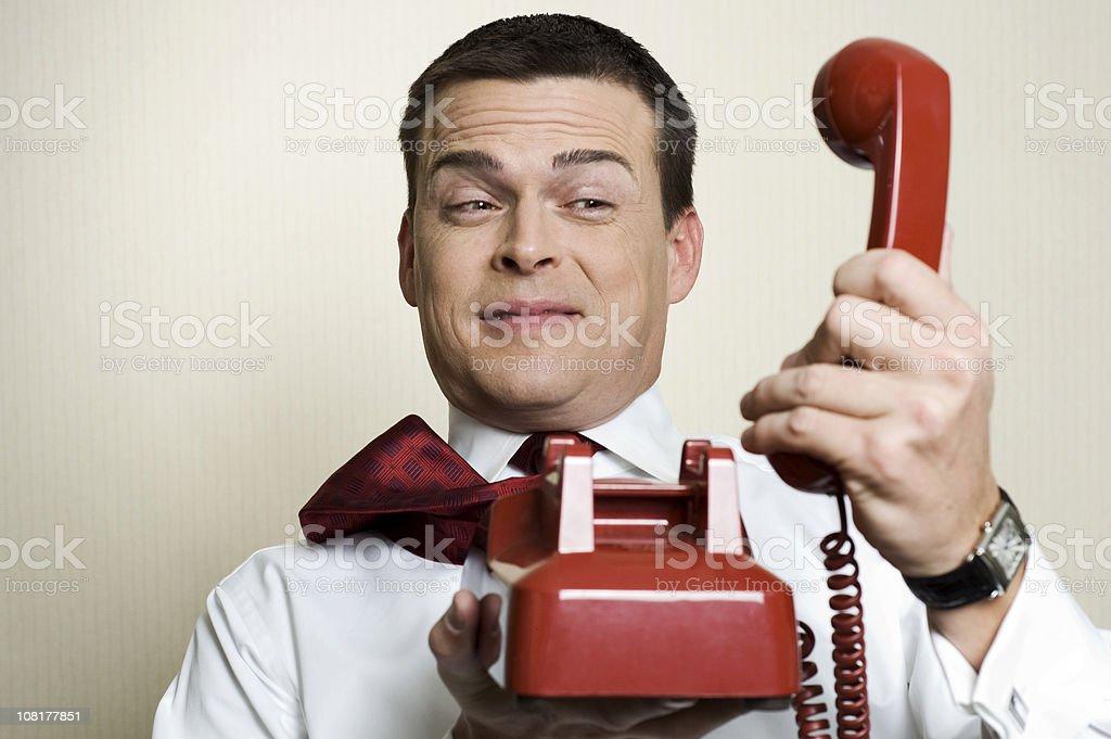 screaming caller royalty-free stock photo