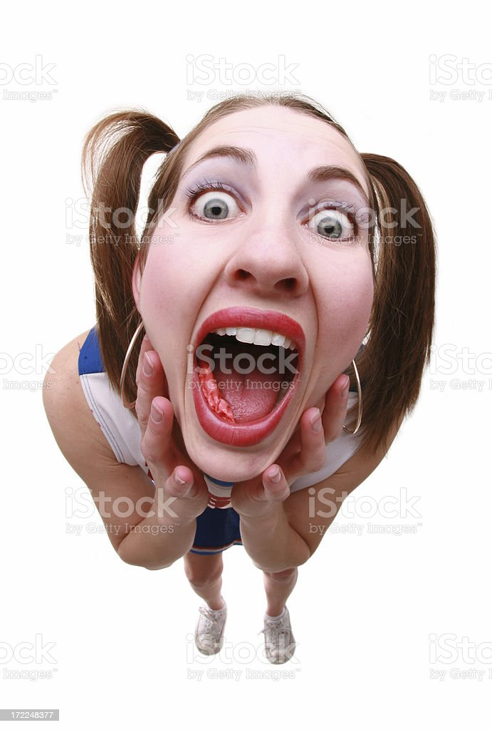 Screaming Cheerleader royalty-free stock photo