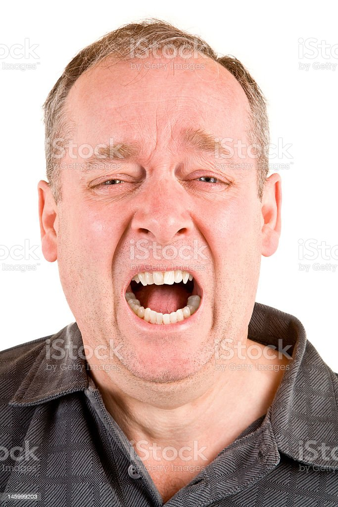Screaming for Help royalty-free stock photo