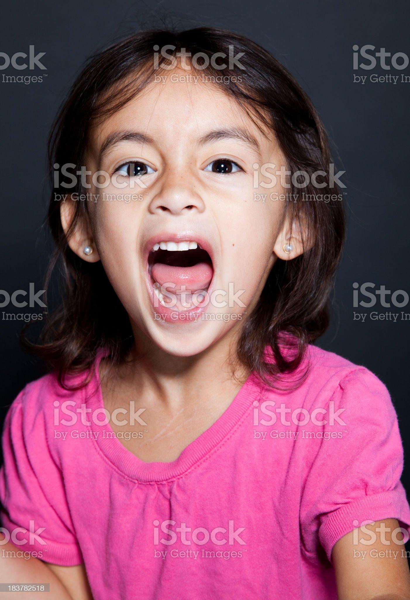 screaming girl royalty-free stock photo