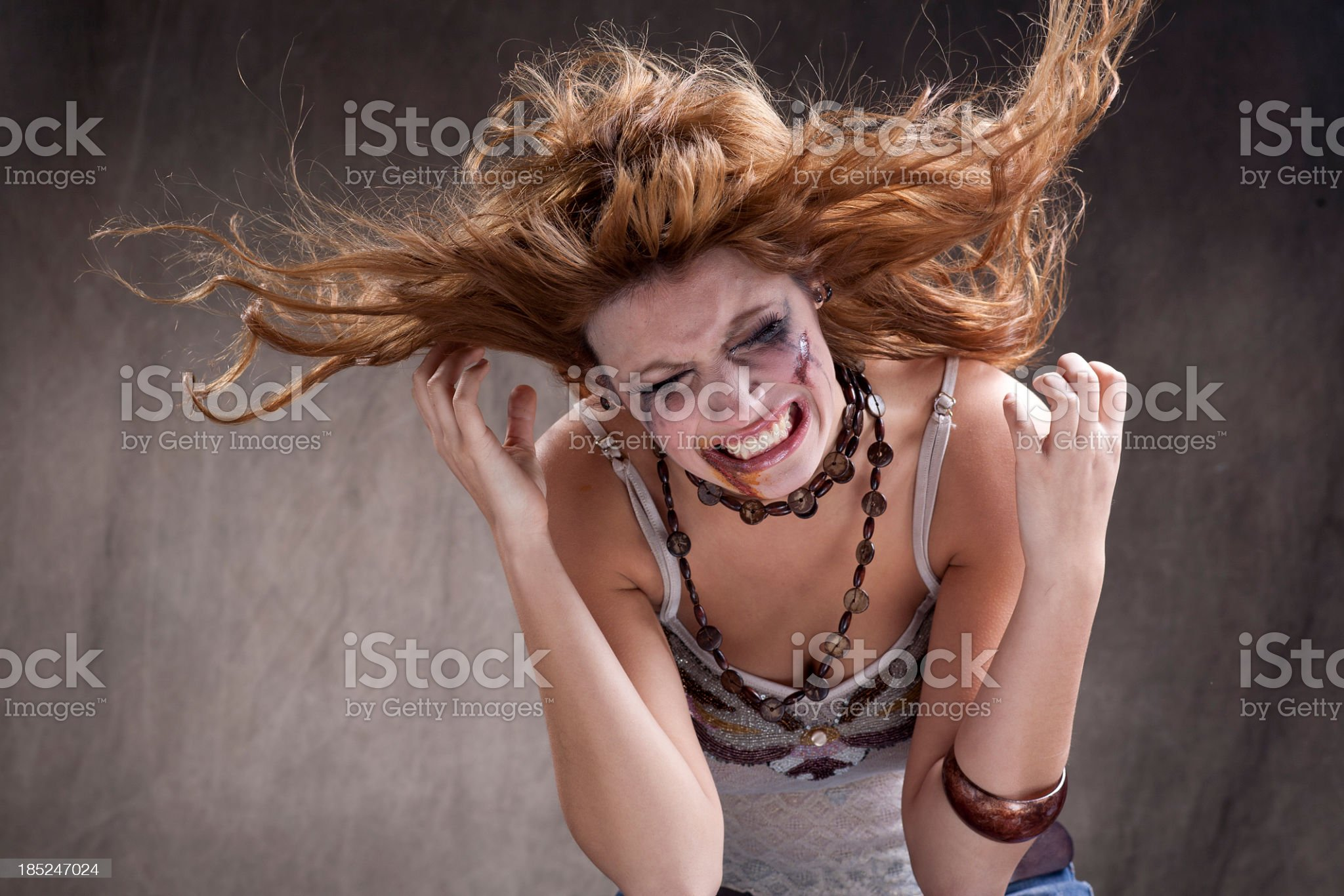 screaming girl royalty-free stock photo