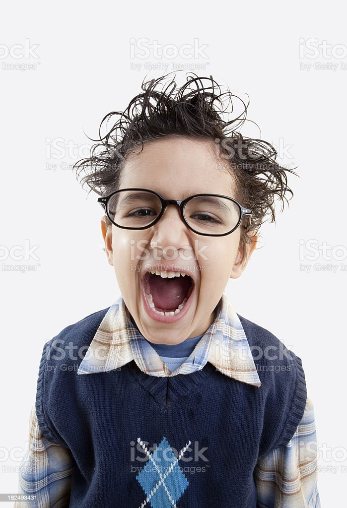Screaming little boy royalty-free stock photo