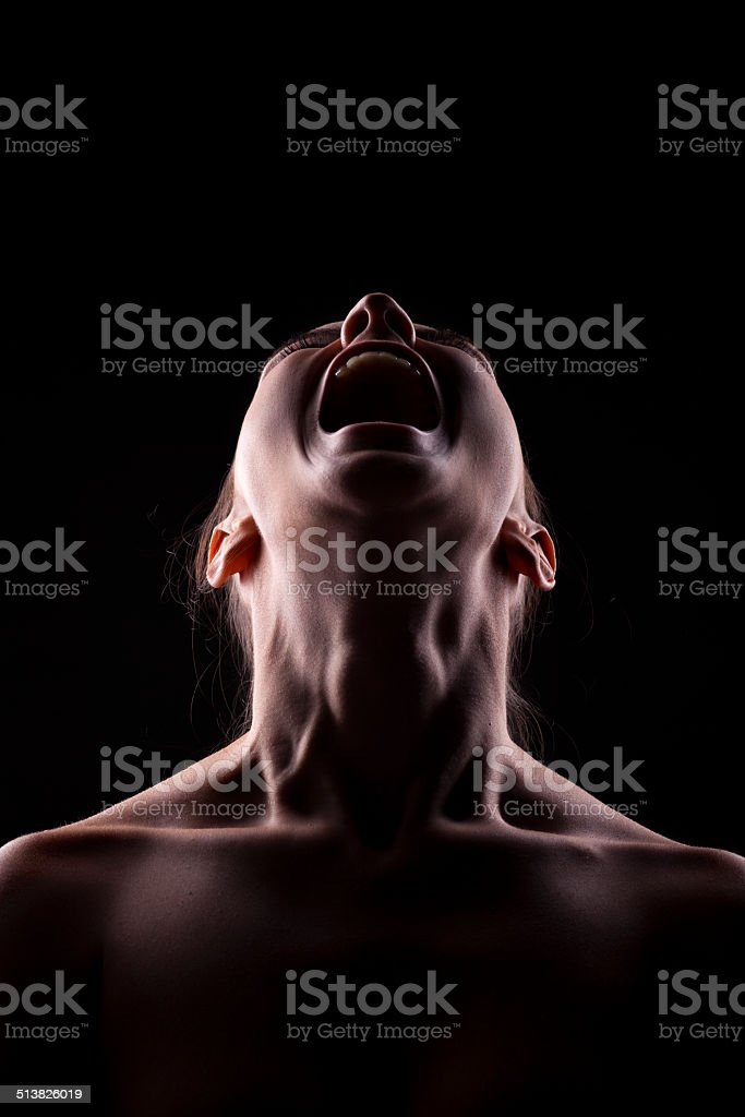 screaming person stock photo