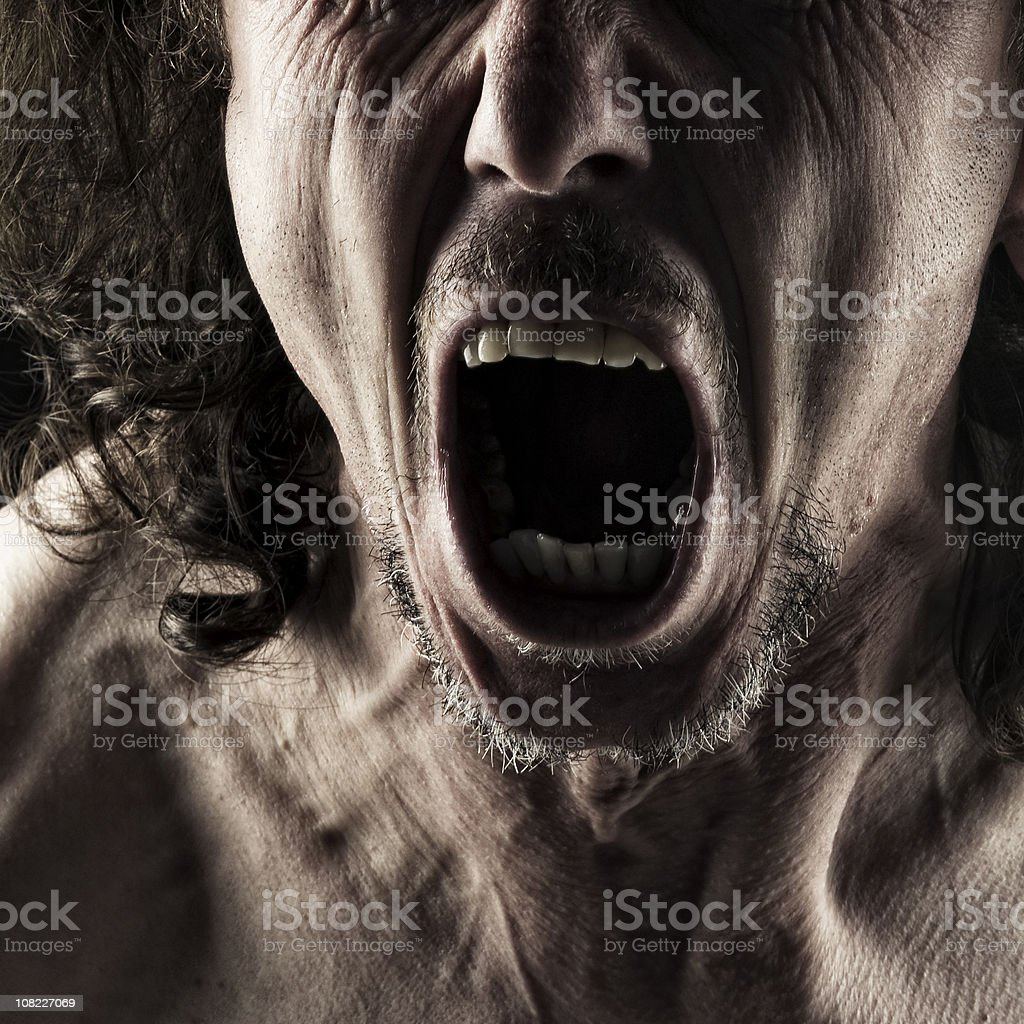 Screaming royalty-free stock photo